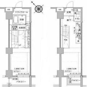 (仮)川崎区砂子マンション9階Fの間取り画像