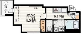仮称 飛田給Ⅰマンション3階Fの間取り画像