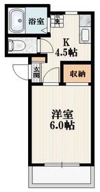 メゾンキュート1階Fの間取り画像