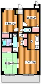 モンドミール和光2階Fの間取り画像