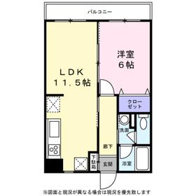 KIKUNA HOUSE 67113階Fの間取り画像
