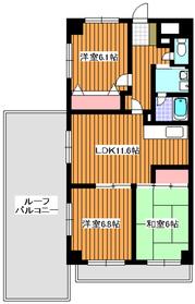 成増駅 徒歩20分6階Fの間取り画像