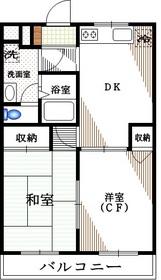 ルミエールN2階Fの間取り画像