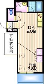 中目黒駅 徒歩9分2階Fの間取り画像