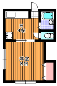 榎本ハイム1階Fの間取り画像