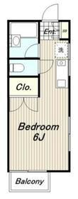 リバティハウス2階Fの間取り画像