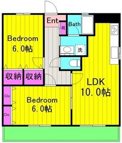 エルグランドB棟2階Fの間取り画像