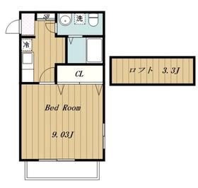 ピオニール1階Fの間取り画像