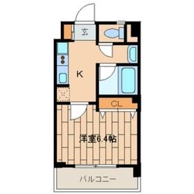 ヴァンヴェール14階Fの間取り画像