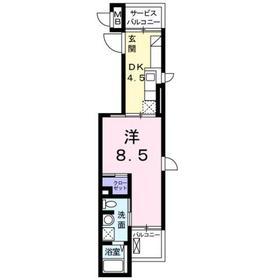 カーサ3階Fの間取り画像