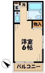 馬引沢UNIT2階Fの間取り画像
