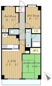 ライオンズマンション古淵第23階Fの間取り画像