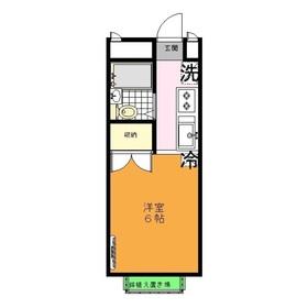 丸山シャンテ1階Fの間取り画像
