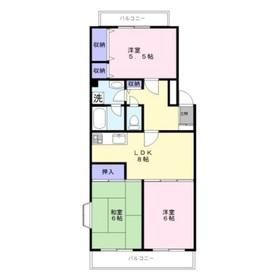 プリムローズ4階Fの間取り画像