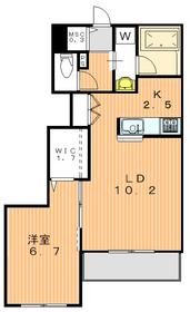コート徳川山1階Fの間取り画像