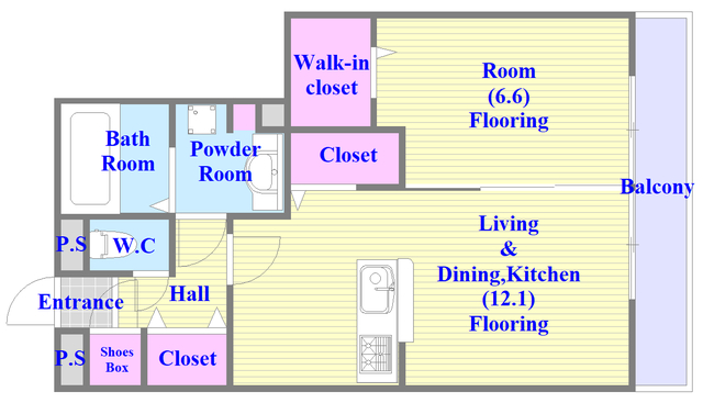 カーザ・セレーナ(旧称)D-room今西様 A棟 新築です。新婚さんにオススメの間取りになります。