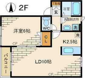 TEE UP2階Fの間取り画像