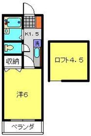 貴志ハイツD棟2階Fの間取り画像