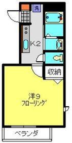 すみれハイツ2階Fの間取り画像