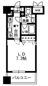 レジディア四谷三丁目4階Fの間取り画像