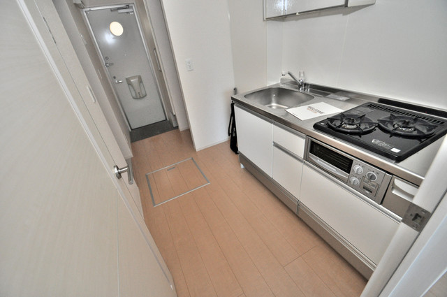 セジュールオッツ八戸ノ里 広めのキッチンで家事もらくらく。