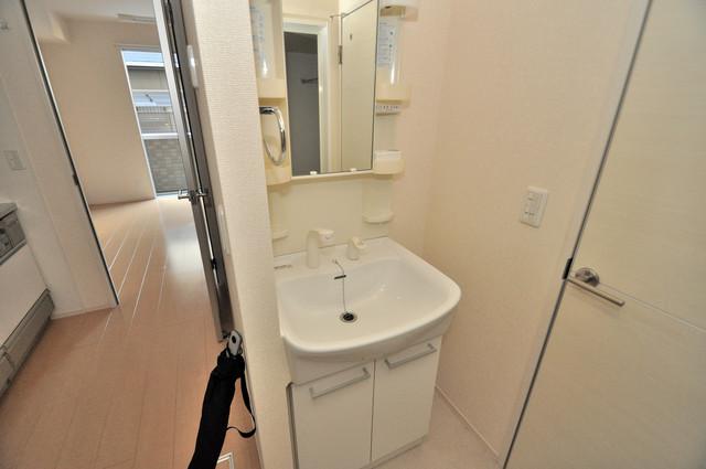 セジュールオッツ八戸ノ里 人気の独立洗面所にはうれしいシャンプードレッサー完備です。