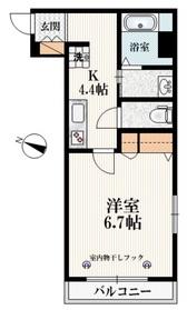 ビオス大泉1階Fの間取り画像