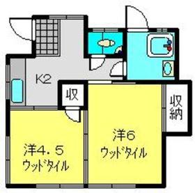 三ッ沢上町駅 徒歩22分1階Fの間取り画像