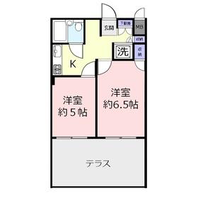 センチュリー鶴瀬西1階Fの間取り画像