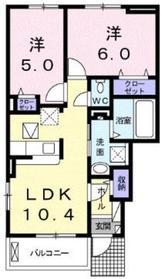 アリエッタ1階Fの間取り画像