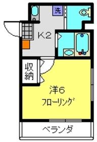 ライジングビルYOSHIZAKI2階Fの間取り画像