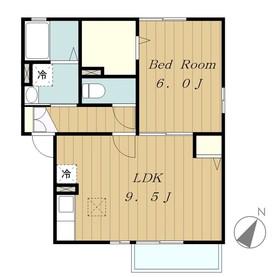 サニーハウス2階Fの間取り画像