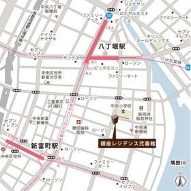 銀座レジデンス弐番館案内図