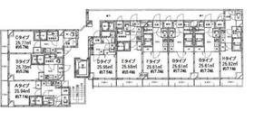 蔵前駅 徒歩15分配置図