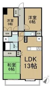 多摩南平パークスクエア11階Fの間取り画像