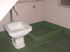 ペット用トイレと足洗い場