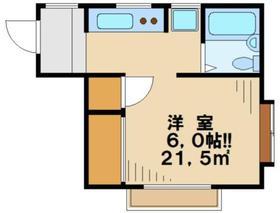 メゾンMOTO2階Fの間取り画像
