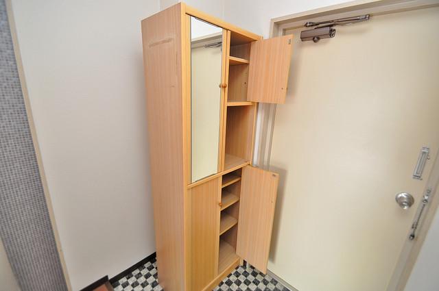 ハイツ片岡Ⅱ 玄関には大容量のシューズボックスがありますよ。