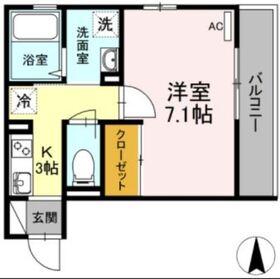 D-room殿町3階Fの間取り画像