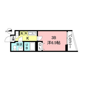 THE ROOM'S大森山王3階Fの間取り画像
