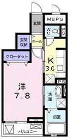 メゾン ド リッシュ3階Fの間取り画像