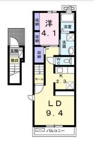 サンリットウェストC2階Fの間取り画像