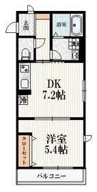 Casa Calda 神楽坂2階Fの間取り画像