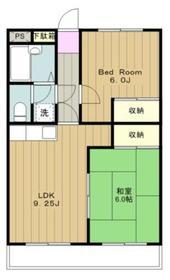 富志正第五ビル4階Fの間取り画像