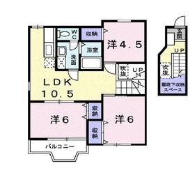 二宮駅 徒歩17分2階Fの間取り画像