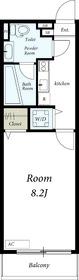 リブリ・クレールカルチェ1階Fの間取り画像
