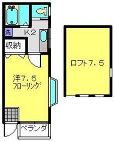 高田駅 徒歩24分2階Fの間取り画像