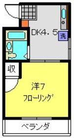 コーポニシキ3階Fの間取り画像
