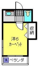 スマイルワン2階Fの間取り画像