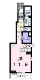 モーダ・パラッツォ2階Fの間取り画像